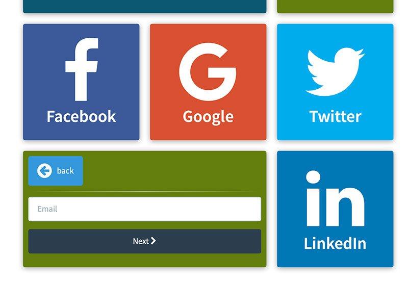 Account Email o Social selezionato per accedere al WiFi della Marina di Cattolica